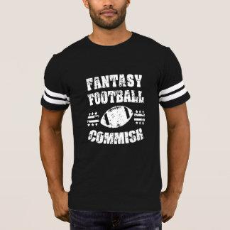 ファンタジーのフットボールのCommishおもしろいなメンズワイシャツ Tシャツ