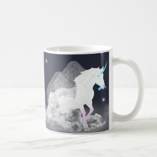 ファンタジーのユニコーンの天使 コーヒーマグカップ