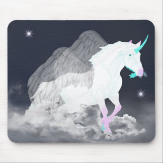 ファンタジーのユニコーンの天使 マウスパッド
