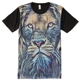 ファンタジーのライオンのキメラのドラゴンの雑種の芸術 オールオーバープリントT シャツ