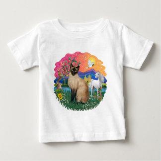ファンタジーの土地(ff) -シャムチョコレートポイント22 ベビーTシャツ