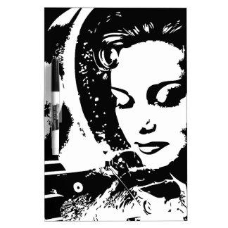 ファンタジーの女性の美女のピンナップ ホワイトボード