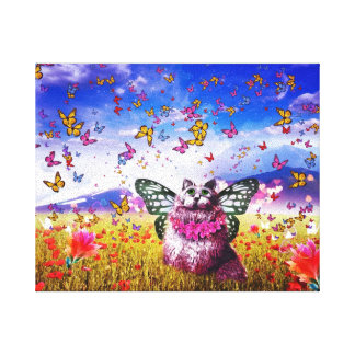 ファンタジーの妖精の国猫 キャンバスプリント