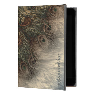 """ファンタジーの孔雀の羽および毛皮のイラストレーション iPad PRO 9.7"""" ケース"""