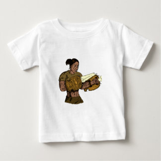 ファンタジーの戦士の女性 ベビーTシャツ