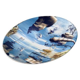 ファンタジーの景色 磁器プレート