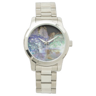 ファンタジーの木の抽象的な景色 腕時計