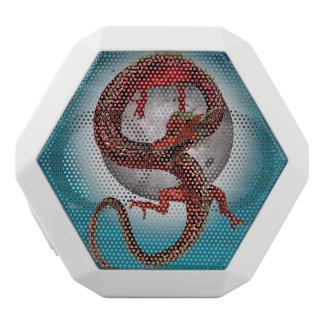 ファンタジーの東の赤いドラゴン ホワイトBluetoothスピーカー
