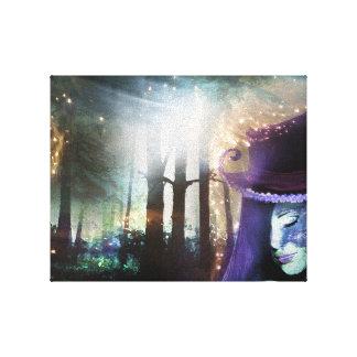 ファンタジーの森林女の子 キャンバスプリント