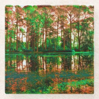 ファンタジーの森林 ガラスコースター