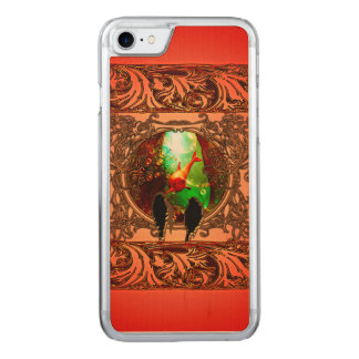 ファンタジーの水中世界を見ている鳥 CARVED iPhone 8/7 ケース