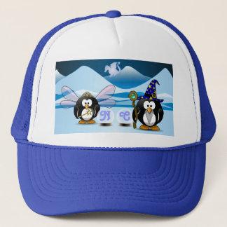 ファンタジーの氷河ペンギンの魔法使いの妖精のクリスタル・ボール キャップ