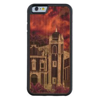 ファンタジーの熱帯都市景観の空中写真 CarvedチェリーiPhone 6バンパーケース