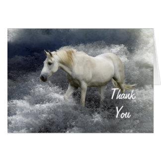 ファンタジーの白馬及び海のサンキューカード カード