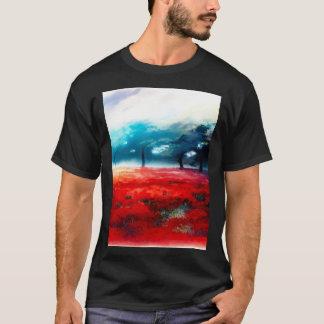 ファンタジーの秋の森林エアブラシの芸術 Tシャツ