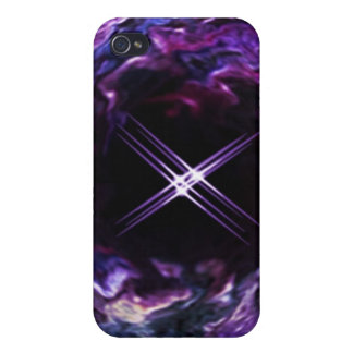ファンタジーの紫色の虹の星のspeckの箱 iPhone 4 カバー