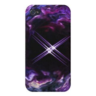 ファンタジーの紫色の虹の星のspeckの箱 iPhone 4/4Sケース