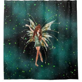 ファンタジーの緑の妖精のシャワー・カーテン シャワーカーテン