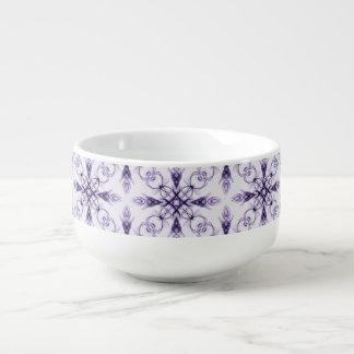 ファンタジーの花の中型の紫色のフラクタル スープマグ