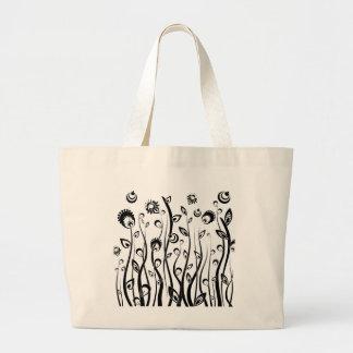 ファンタジーの花 ラージトートバッグ