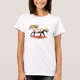 ファンタジーの芸術-虹の馬 Tシャツ