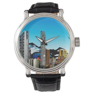 ファンタジーの都市景観の腕時計 腕時計
