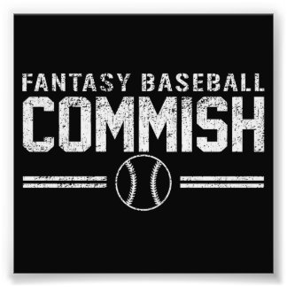 ファンタジーの野球Commish フォトプリント