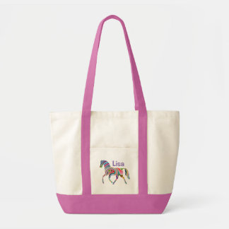 ファンタジーの馬のモノグラム トートバッグ
