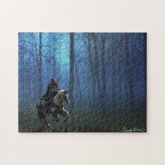 ファンタジーの騎士「MidKnightの乗車」のジグソーパズル ジグソーパズル