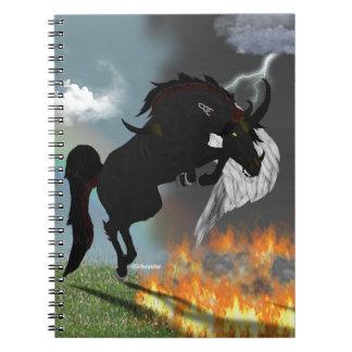 ファンタジーの鬼の天使の馬の創造物 ノートブック