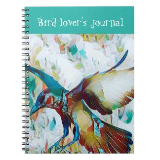 ファンタジーの鳥の恋人のジャーナル ノートブック