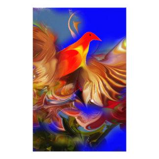 ファンタジーのCGBデジタルによって大型エキゾチックな火の鳥 便箋