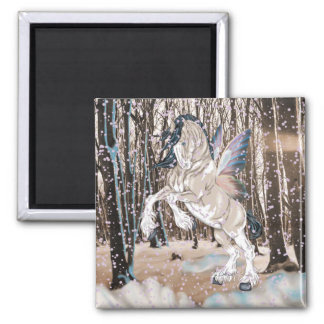 ファンタジーのClydesdaleの馬の妖精 マグネット