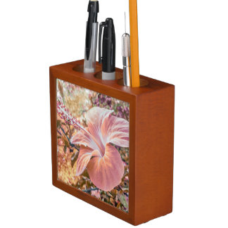 ファンタジー色のハイビスカスの花のデジタル写真 ペンスタンド