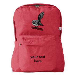 ファンテールのかわいく小さい灰色の鳥 AMERICAN APPAREL™バックパック