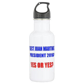 ファンマルチネーゼの大統領2016年- Yesか。 ウォーターボトル