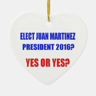 ファンマルチネーゼの大統領2016年- Yesか。 セラミックオーナメント