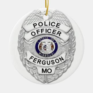 ファーガソンの警察は記章を付けます セラミックオーナメント