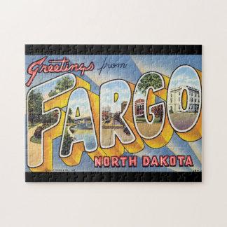 ファーゴ北のDakota_Vintageの旅行からの挨拶 ジグソーパズル