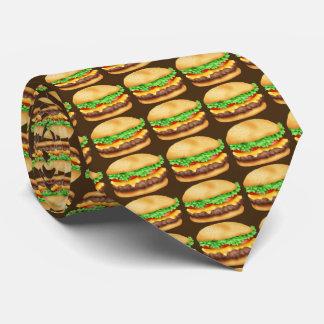 ファーストフードのハンバーガーパターン食糧タイ オリジナルネクタイ