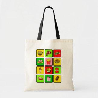 ファースト・フードの麻薬常習者のバッグ-スタイル及び色を選んで下さい トートバッグ