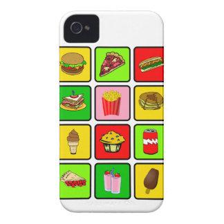 ファースト・フードの麻薬常習者のブラックベリーのはっきりしたな箱 Case-Mate iPhone 4 ケース