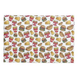 ファースト・フードパターン枕カバー 枕カバー