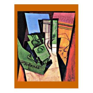 フアン・グリスの芸術: フアン・グリス著絵を描く朝食 ポストカード