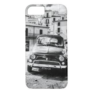 フィアット500の黒 + 白、ローマ、イタリア、iPhone 7の場合 iPhone 8/7ケース