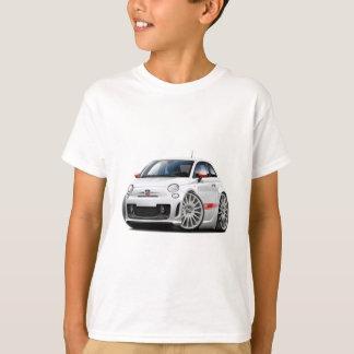 フィアット500 Abarthの白車 Tシャツ