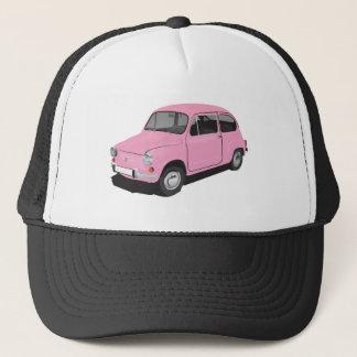 フィアット600 (Seicento)のピンクの帽子 キャップ