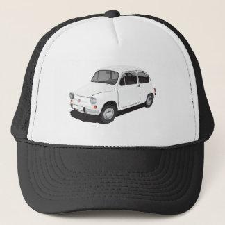 フィアット600 (Seicento)の白い帽子 キャップ