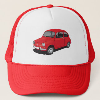 フィアット600 (Seicento)の赤い帽子 キャップ