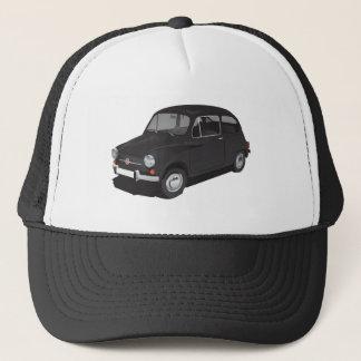 フィアット600 (Seicento)の黒い帽子 キャップ